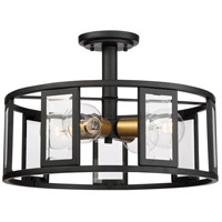 Payne 4 Light 17 inch Black Flush Mount Ceiling Light