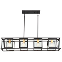 Payne 4 Light 42 inch Black Trestle Ceiling Light