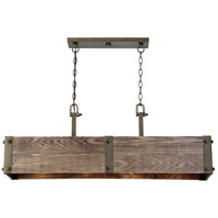 Winchester 4 Light 41 inch Bronze Trestle Ceiling Light