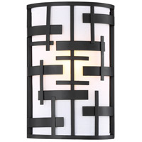 Nuvo 60/6431 Lansing 1 Light 8 inch Textured Black Vanity Light Wall Light