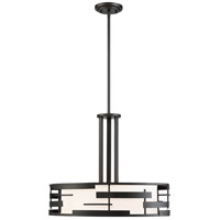 Lansing 3 Light 21 inch Textured Black Pendant Ceiling Light