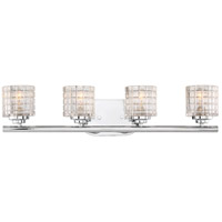 Nuvo 60/6444 Votive 4 Light 25 inch Polished Nickel Vanity Light Wall Light