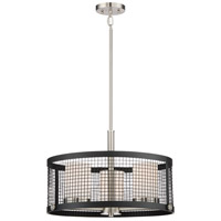 Nuvo 60/6453 Pratt 3 Light 20 inch Black and Brushed Nickel Accents Pendant Ceiling Light