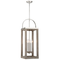 Bliss 2 Light 14 inch Driftwood and Polished Nickel Pendant Ceiling Light