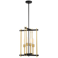 Nuvo 60/6525 Marion 4 Light 15 inch Aged Bronze and Natural Bronze Pendant Ceiling Light