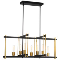 Nuvo 60/6526 Marion 7 Light 36 inch Aged Bronze and Natural Bronze Island Pendant Ceiling Light