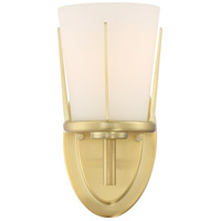 Nuvo 60/6531 Serene 1 Light 5 inch Natural Brass Wall Sconce Wall Light