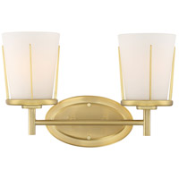 Nuvo 60/6532 Serene 2 Light 14 inch Natural Brass Wall Sconce Wall Light