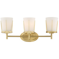 Nuvo 60/6533 Serene 3 Light 22 inch Natural Brass Wall Sconce Wall Light
