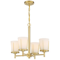 Nuvo 60/6534 Serene 4 Light 20 inch Natural Brass Chandelier Ceiling Light