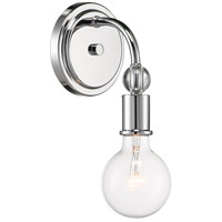 Nuvo 60/6561 Bounce 1 Light 5 inch Polished Nickel with K9 Crystal Wall Sconce Wall Light
