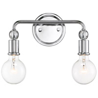 Nuvo 60/6562 Bounce 2 Light 14 inch Polished Nickel with K9 Crystal Wall Sconce Wall Light