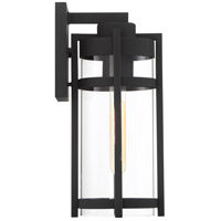 Nuvo 60/6572 Tofino 1 Light 6 inch Textured Black Outdoor Lantern Medium