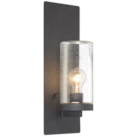 Nuvo 60/6578 Indie 1 Light 6 inch Textured Black Wall Sconce Wall Light Large