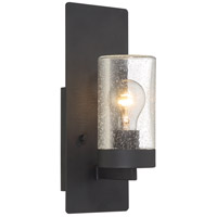 Nuvo 60/6579 Indie 1 Light 5 inch Textured Black Wall Sconce Wall Light, Small photo thumbnail