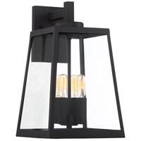 Nuvo 60/6583 Halifax 4 Light 16 inch Matte Black and Glass Outdoor Wall Lantern Large