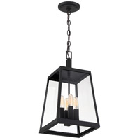 Nuvo 60/6584 Halifax 4 Light 10 inch Matte Black and Glass Outdoor Hanging Lantern