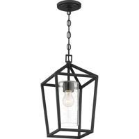 Nuvo 60/6594 Hopewell 1 Light 9 inch Matte Black Outdoor Hanging Lantern