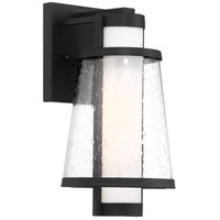 Nuvo 60/6601 Anau 1 Light 13 inch Matte Black and Glass Outdoor Wall Lantern Small