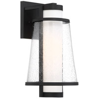 Nuvo 60/6602 Anau 1 Light 15 inch Matte Black and Glass Outdoor Wall Lantern Medium