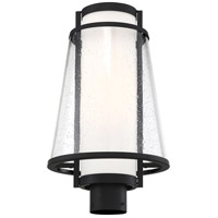 Nuvo 60/6605 Anau 1 Light 18 inch Matte Black and Glass Post Lantern