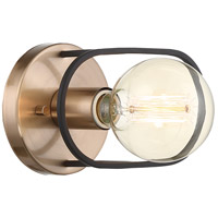 Nuvo 60/6651 Chassis 1 Light 8 inch Copper Brushed Brass Wall Sconce Wall Light photo thumbnail