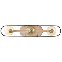 Nuvo 60/6653 Chassis 3 Light 24 inch Copper Brushed Brass and Matte Black Vanity Light Wall Light