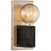 Nuvo 60/6661 Passage 1 Light 5 inch Copper Brushed Brass Sconce Wall Light