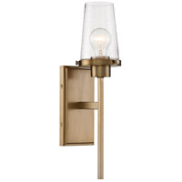 Nuvo 60/6677 Rector 1 Light 5 inch Burnished Brass Wall Sconce Wall Light