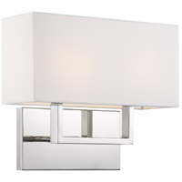 Nuvo 60/6718 Tribeca 2 Light 14 inch Polished Nickel Bathroom Vanity Wall Light