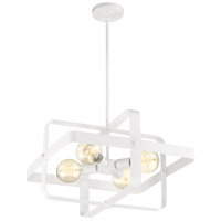 Nuvo 60/6722 Prana 4 Light 20 inch White Pendant Ceiling Light
