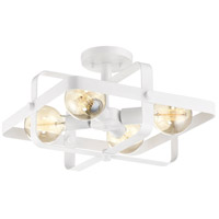 Nuvo 60/6724 Prana 4 Light 16 inch White Flush Mount Ceiling Light
