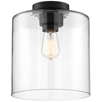 Nuvo 60/6779 Chantecleer 1 Light 10 inch Matte Black Semi Flush Mount Ceiling Light