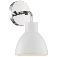 Nuvo 60/6781 Sloan 1 Light 6 inch Polished Nickel and White Vanity Light Wall Light