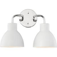 Nuvo 60/6782 Sloan 2 Light 14 inch Polished Nickel Bathroom Vanity Wall Light