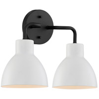 Nuvo 60/6785 Sloan 2 Light 14 inch Matte Black Vanity Light Wall Light