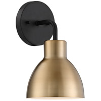 Nuvo 60/6791 Sloan 1 Light 6 inch Matte Black Bathroom Vanity Wall Light