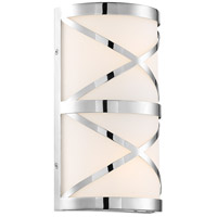 Nuvo 60/6841 Sylph 2 Light 7 inch Polished Nickel and Satin White Vanity Light Wall Light