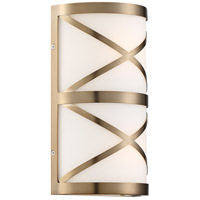 Nuvo 60/6842 Sylph 2 Light 7 inch Burnished Brass and Satin White Vanity Light Wall Light