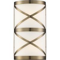 Nuvo 60/6842 Sylph 2 Light 7 inch Burnished Brass Vanity Light Wall Light
