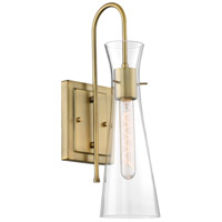 Nuvo 60/6857 Bahari 1 Light 5 inch Vintage Brass Vanity Light Wall Light