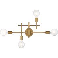 Nuvo 60/6871 Delphi 4 Light 23 inch Aged Gold Bathroom Vanity Wall Light