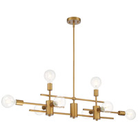 Nuvo 60/6872 Delphi 8 Light 7 inch Aged Gold Pendant Ceiling Light