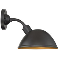 Nuvo 60/6902 South Street 1 Light 10 inch Dark Bronze and Gold Outdoor Wall Fixture