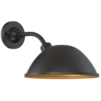 Nuvo 60/6905 South Street 1 Light 11 inch Dark Bronze and Gold Outdoor Wall Fixture