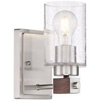 Nuvo 60/6961 Arabel 1 Light 4 inch Brushed Nickel Bathroom Vanity Wall Light