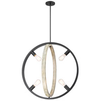 Nuvo 60/6985 Augusta 4 Light 25 inch Black and Gray Wood Pendant Ceiling Light