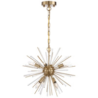 Nuvo 60/6992 Cirrus 6 Light 16 inch Vintage Brass Chandelier Ceiling Light