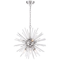 Nuvo 60/6993 Cirrus 8 Light 20 inch Polished Nickel Chandelier Ceiling Light