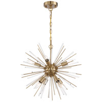 Nuvo 60/6994 Cirrus 8 Light 20 inch Vintage Brass Chandelier Ceiling Light